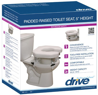 Drive Medical Design Raised Toilet Seat With Four Locking