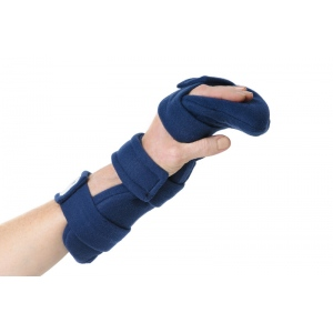 Comfy Splints Hand Wrist: Adult, Navy Blue, Terry Cloth