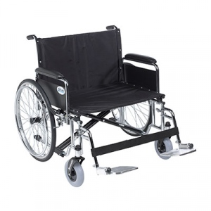 "Sentra EC Heavy Duty Extra Wide Wheelchair, Detachable Full Arms, Swing away Footrests, 30"" Seat"
