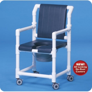Innovative Products Unlimited Deluxe Shower Chair Commode with Open Front Seat & Deluxe Back