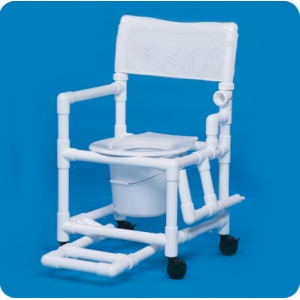 Innovative Products Unlimited Standard Shower Chair Commode with Footrest & Left Drop Arm