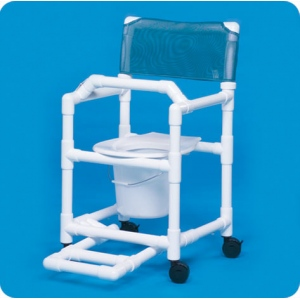 Innovative Products Unlimited Standard Shower Chair Commode with Footrest & Lap Bar