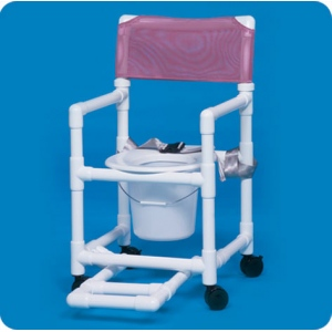 Innovative Products Unlimited Standard Shower Chair Commode with Footrest & Seat Belt