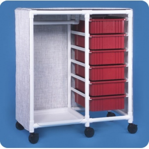 Innovative Products Unlimited Garment Rack with Bins